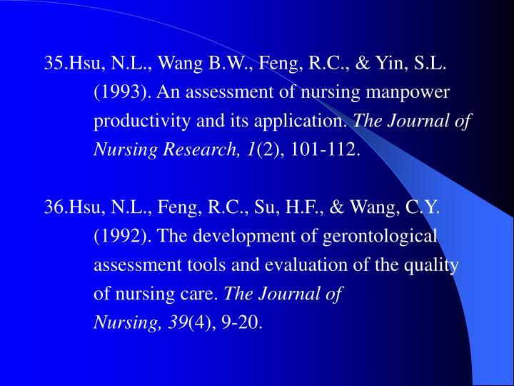 35.Hsu, N.L., Wang B.W., Feng, R.C., & Yin, S.L.