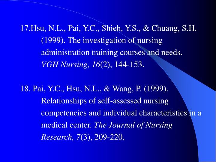 17.Hsu, N.L., Pai, Y.C., Shieh, Y.S., & Chuang, S.H.
