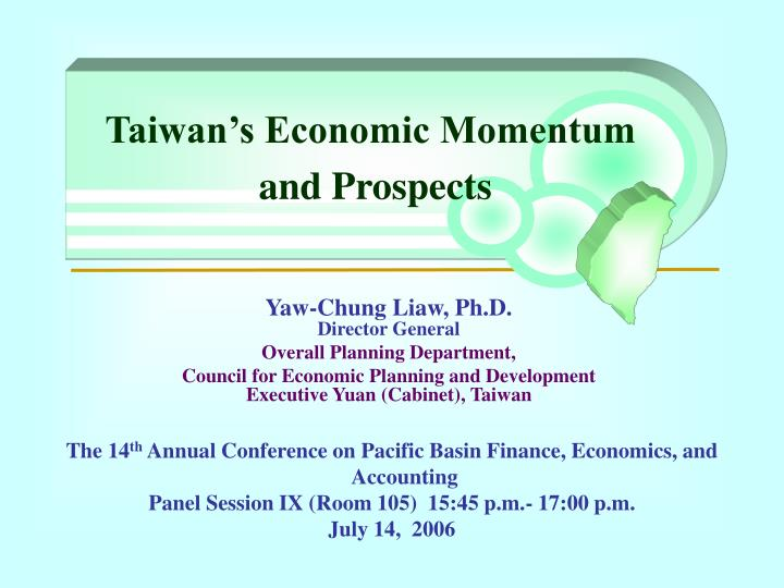 Taiwan s economic momentum and prospects