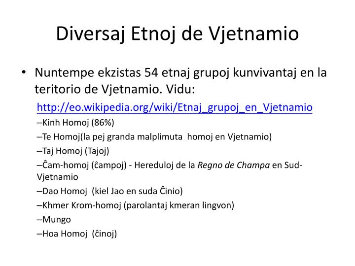Diversaj Etnoj de Vjetnamio