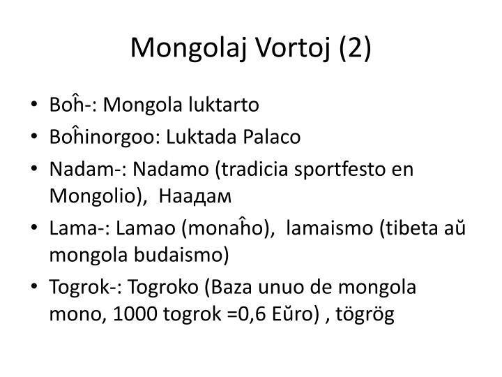 Mongolaj Vortoj (2)