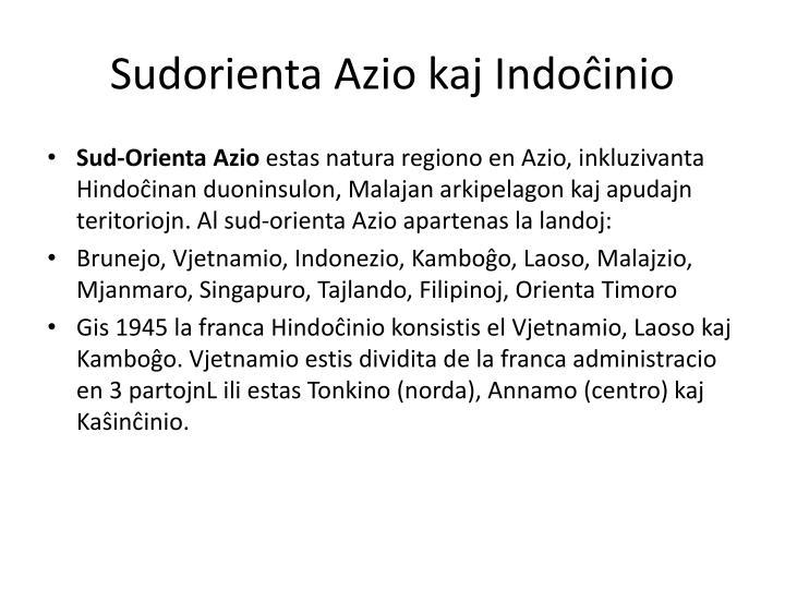 Sudorienta Azio kaj Indoĉinio