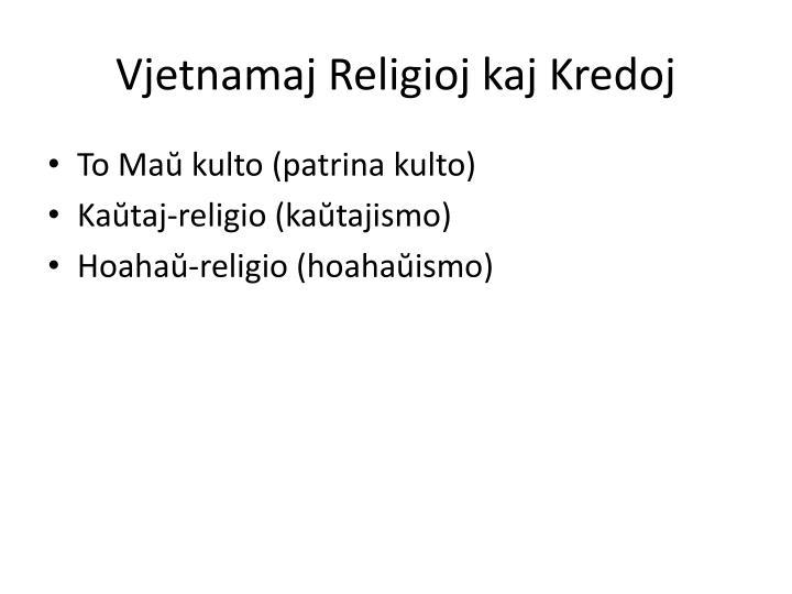 Vjetnamaj Religioj kaj Kredoj