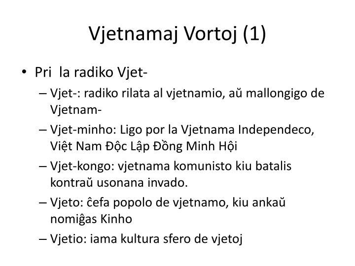Vjetnamaj Vortoj (1)