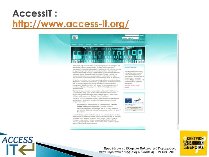 Accessit http www access it org
