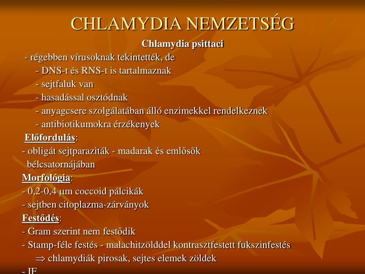 CHLAMYDIA NEMZETSÉG