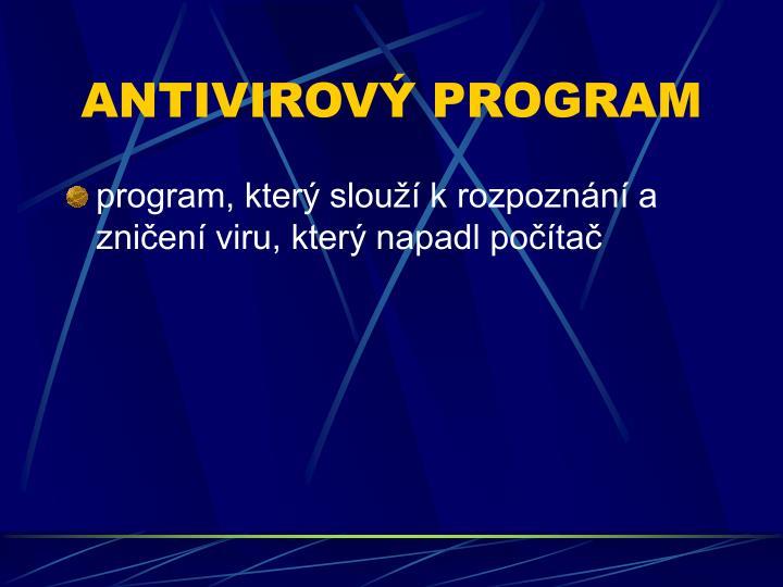 ANTIVIROV PROGRAM