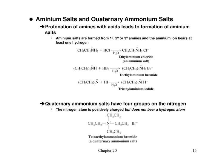 Aminium Salts and Quaternary Ammonium Salts