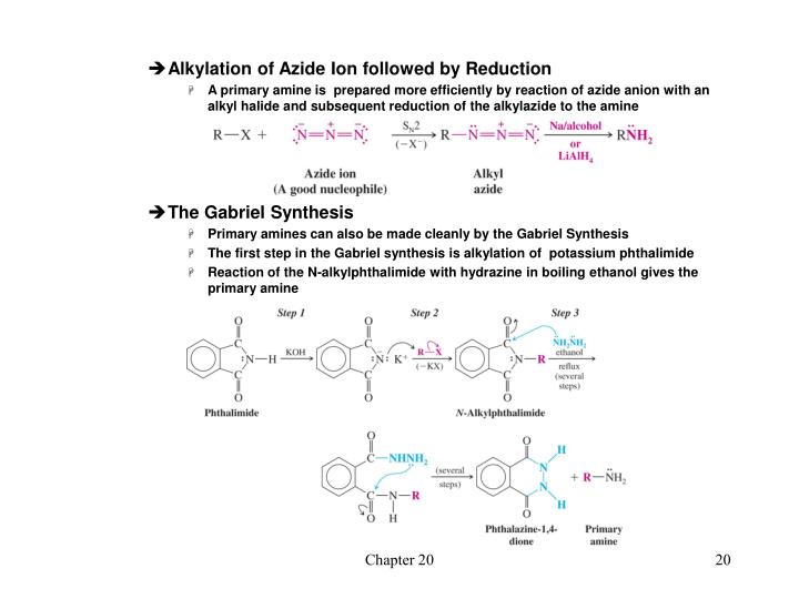 Alkylation of Azide Ion followed by Reduction