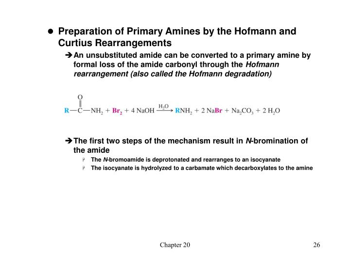 Preparation of Primary Amines by the Hofmann and Curtius Rearrangements