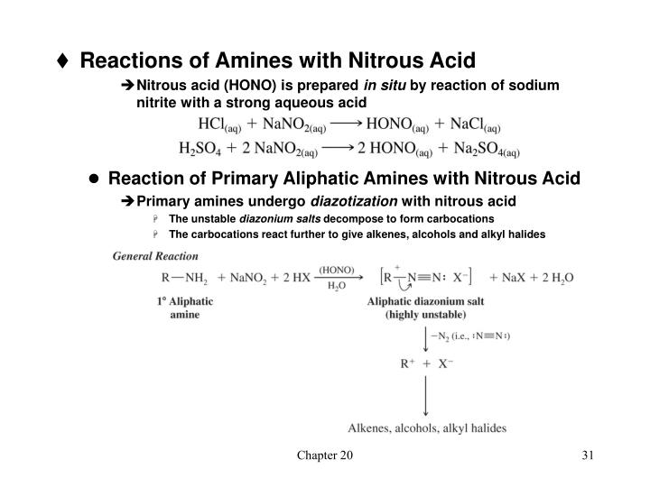 Reactions of Amines with Nitrous Acid