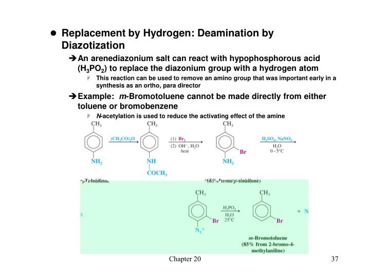 Replacement by Hydrogen: Deamination by Diazotization