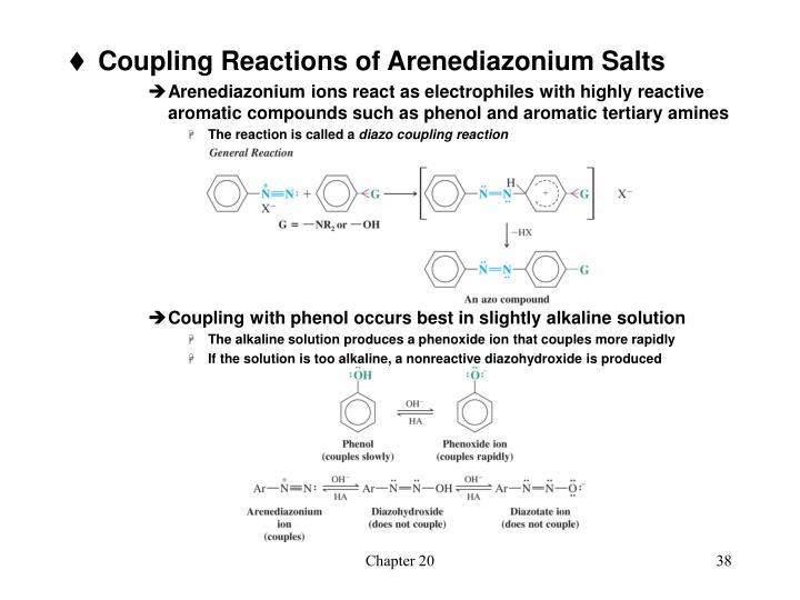 Coupling Reactions of Arenediazonium Salts