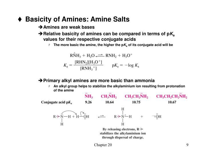 Basicity of Amines: Amine Salts