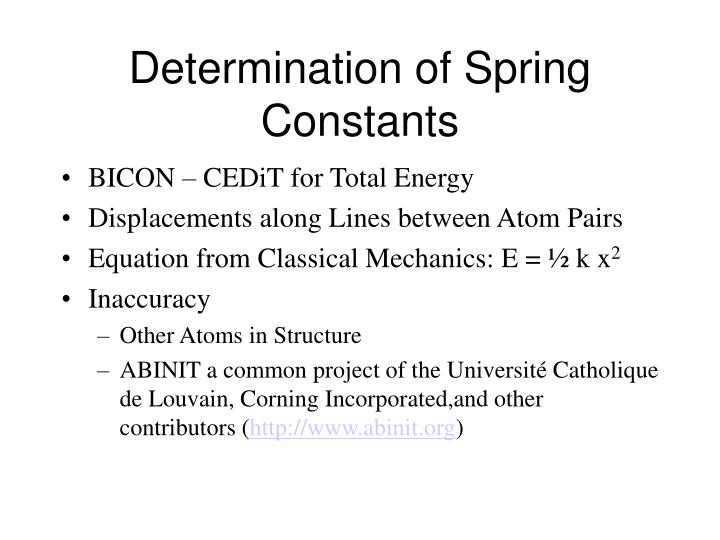 Determination of Spring Constants