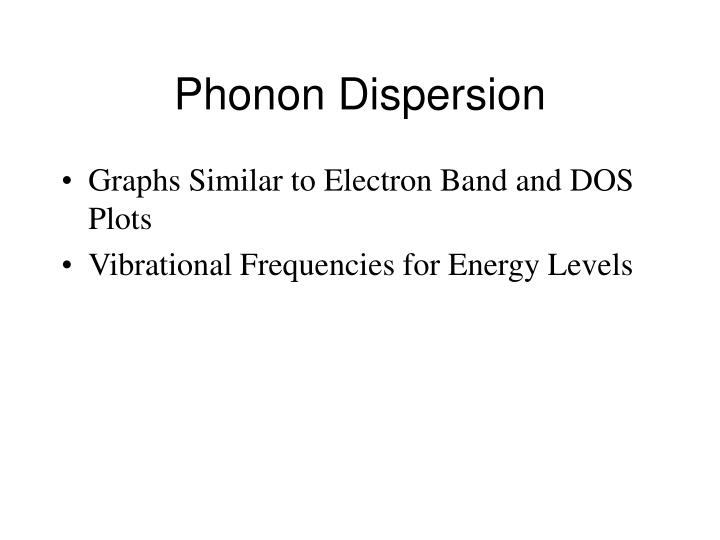 Phonon Dispersion