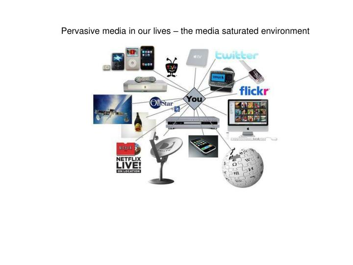 Pervasive media in our lives – the media saturated environment