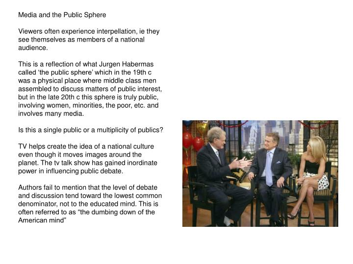 Media and the Public Sphere