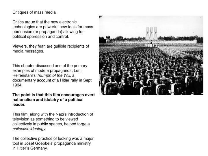 Critiques of mass media