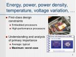 energy power power density temperature voltage variation