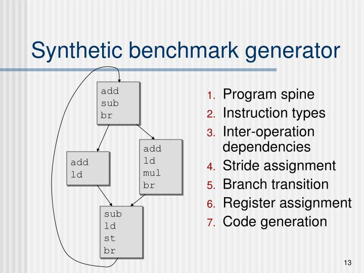 Synthetic benchmark generator