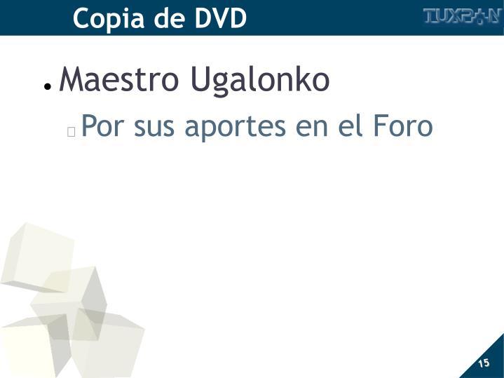 Copia de DVD
