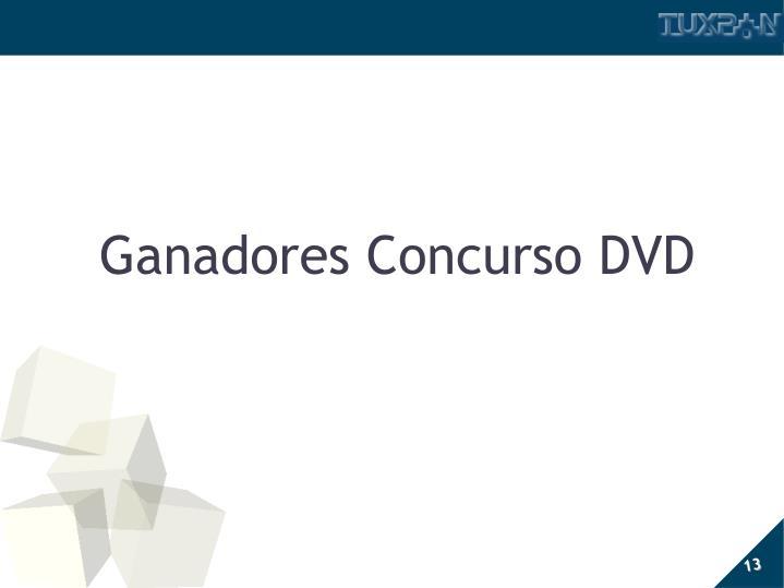 Ganadores Concurso DVD