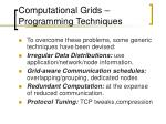computational grids programming techniques