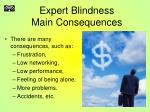 expert blindness main consequences