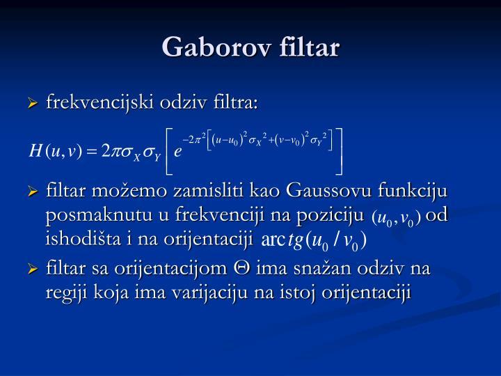 Gaborov filtar