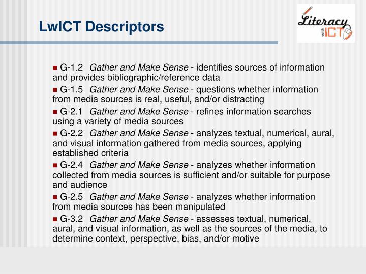 LwICT Descriptors