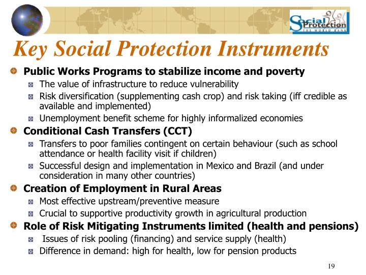 Key Social Protection Instruments