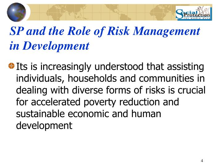 SP and the Role of Risk Management  in Development