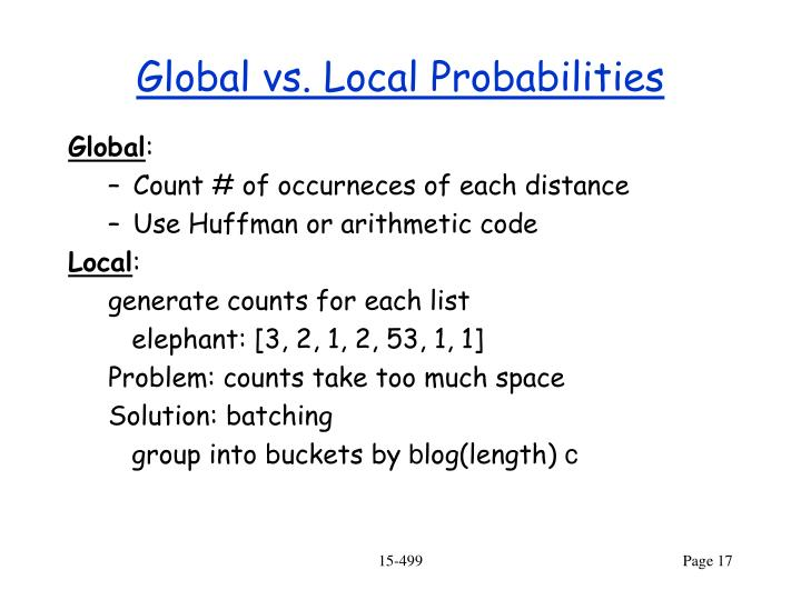 Global vs. Local Probabilities