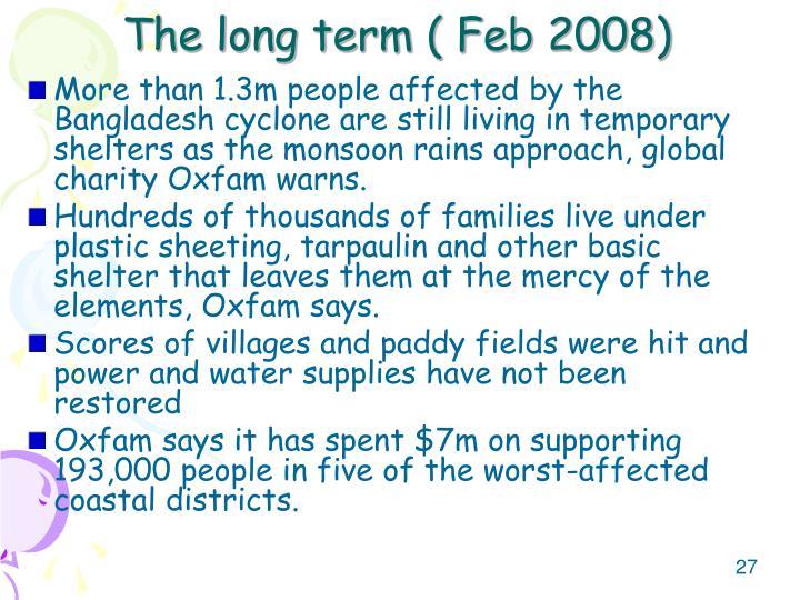 The long term ( Feb 2008)