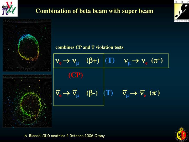 Combination of beta beam with super beam