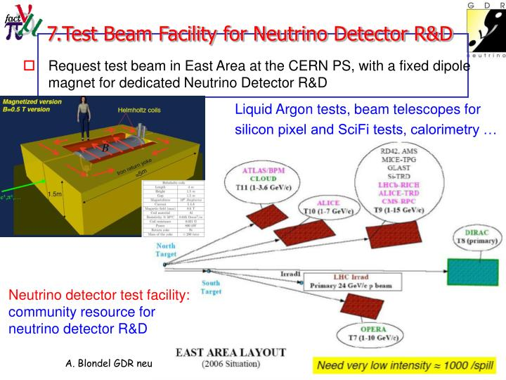 7.Test Beam Facility for Neutrino Detector R&D