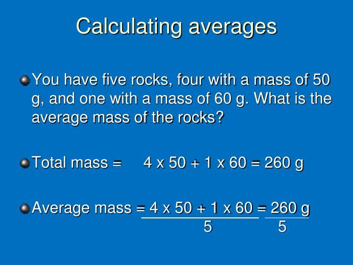Calculating averages