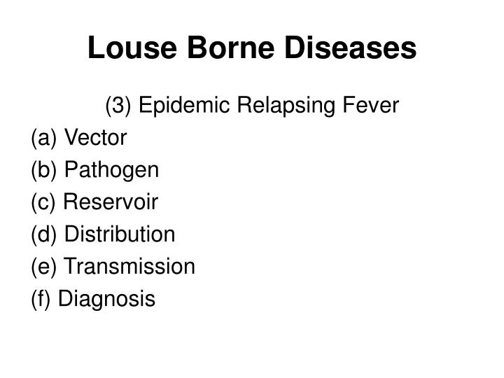Louse Borne Diseases