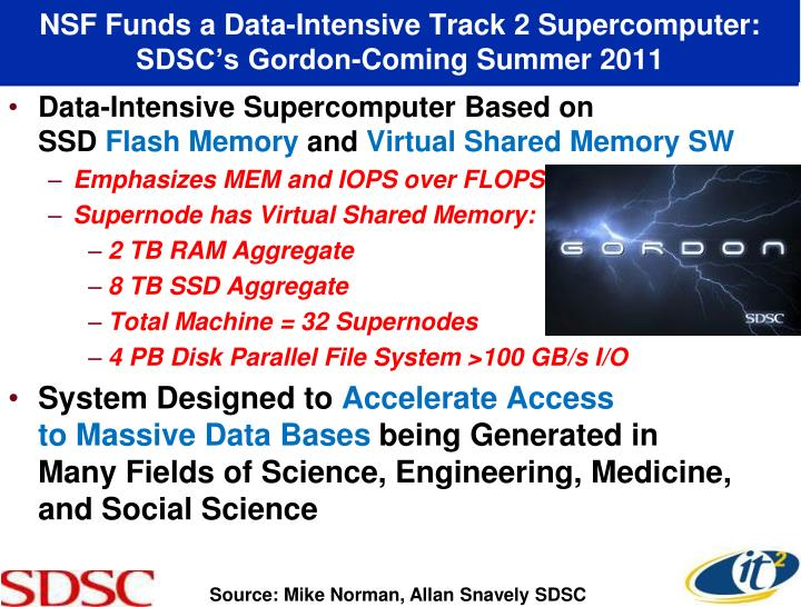 NSF Funds a Data-Intensive Track 2 Supercomputer:
