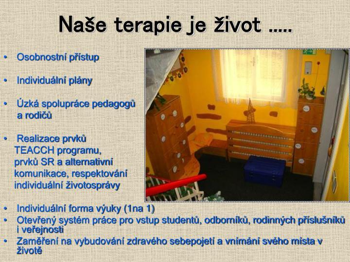 Naše terapie je život .....
