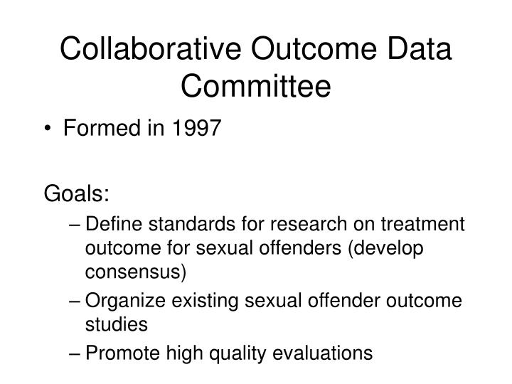 Collaborative Outcome Data Committee