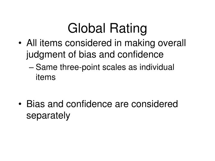 Global Rating