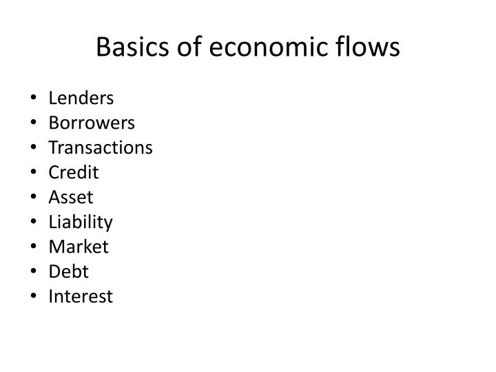 Basics of economic flows