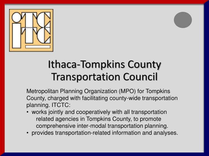 Ithaca tompkins county transportation council