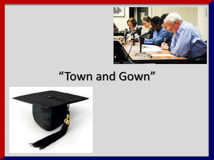 """Town and Gown"""