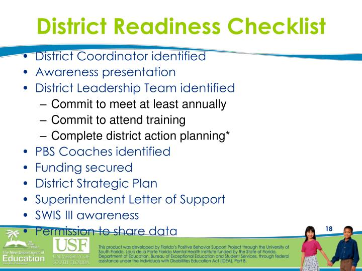 District Readiness Checklist