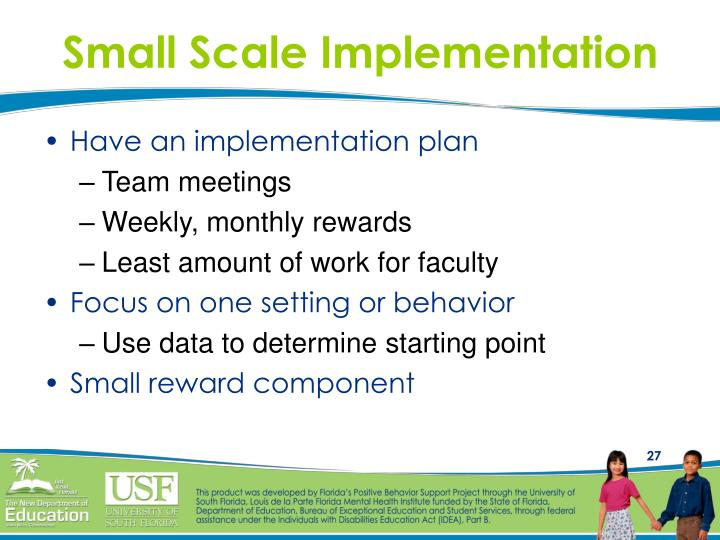 Small Scale Implementation