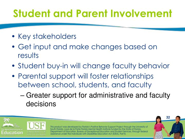 Student and Parent Involvement