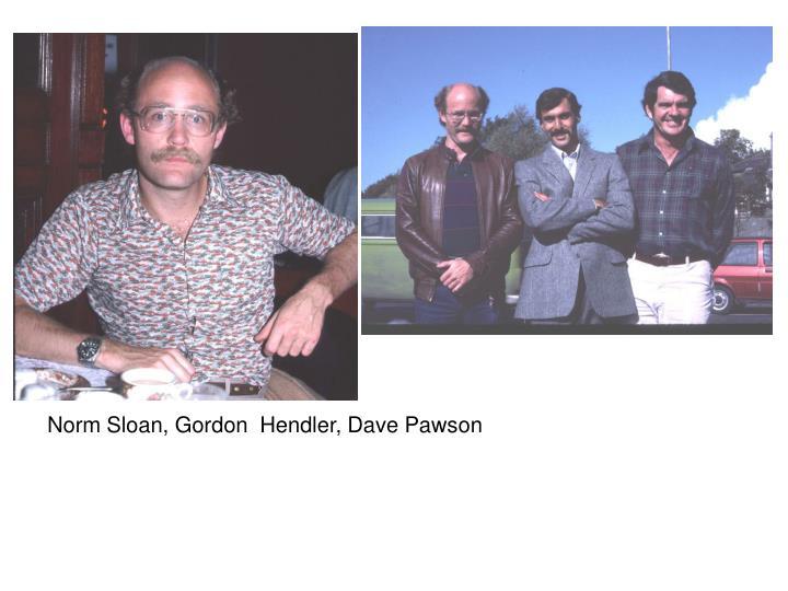 Norm Sloan, Gordon  Hendler, Dave Pawson